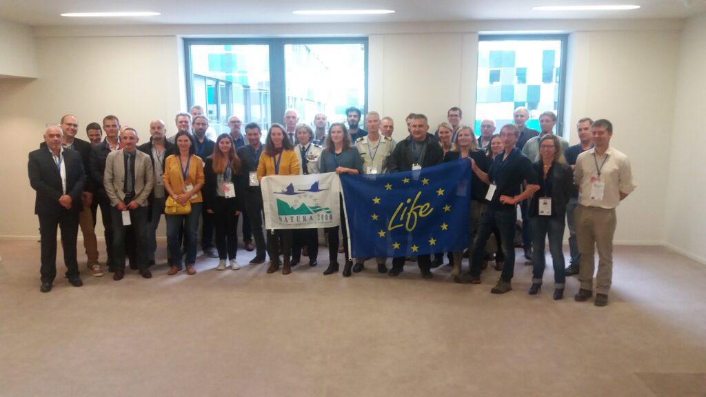 Equipe du LIFE NaturArmy lors du lancement du LIFE le 14 octobre 2019