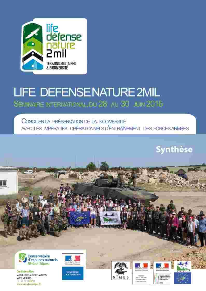 Synthèse du séminaire de clôture du Life DefenseNature2Mil de 2016
